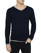 V-Neck Two In One Tee & Knit $129.95