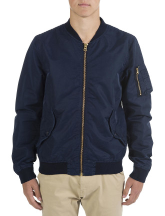 Alpha Nylon Bomber Jacket
