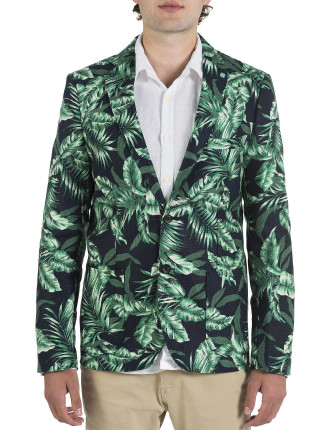 Mr Bahana Tropical Print Blazer