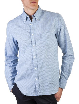 R. Indigo Mini Madras E-Z Obd Shirt