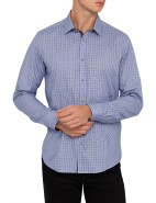 Long Sleeve Herringbone Check Shirt $189.95
