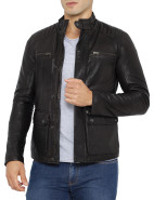 Quilted Shoulder Leather Jacket $949.00
