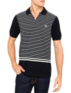 Short Sleeve Striped Tipping Polo $120.00