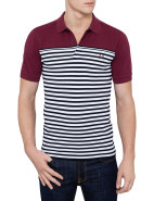 Short Sleeve Block & Stripe Polo $120.00