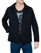 Double Breasted Quilted Lining City Caban Coat $289.95