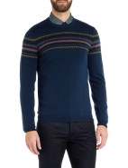 Long Sleeve Crew Neck Fairisle Knit $199.95