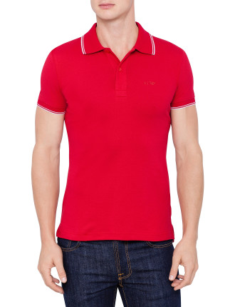 Short Sleeve Basic Logo Polo
