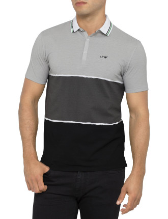 Short Sleeve Colour Block Polo