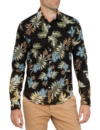 L/S All Over Printed Hawaii Shirt