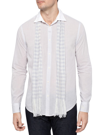 Long Sleeve Beach Shirt with Scarf