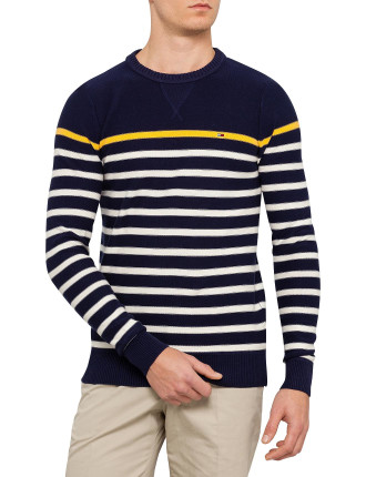 Long Sleeve Tandy Stripes Crew Neck Sweater