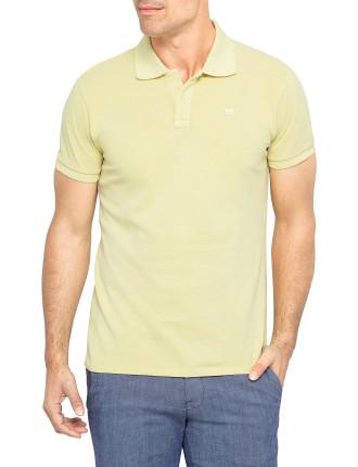 Short Sleeve Basic Garment Dyed Polo