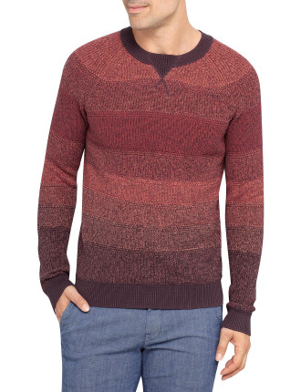 Krauto Crew Neck Gradient Colour Block Knit