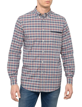 Long Sleeve Multi Colour Check Shirt