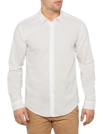 Long Sleeve Folded Collar Shirt