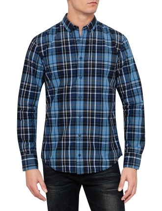 Long Sleeve Wide Check Shirt