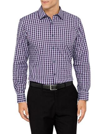 Long Sleeve Gingham Check Shirt