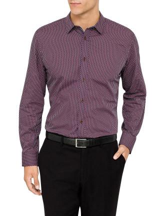 Long Sleeve Crescent Spot Shirt