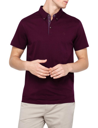 Contrast Plackett Jersey Polo