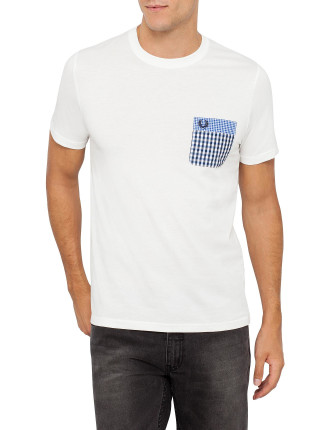 Double Gingham Trim T-Shirt