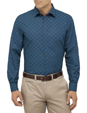 Medallion Tile Print Shirt