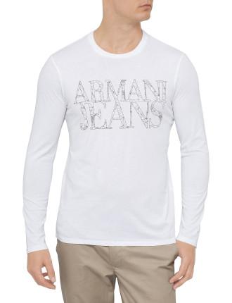 L/S Armani Jeans Logo Tee