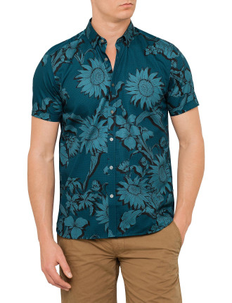 Ss Large Scale Floral Shirt