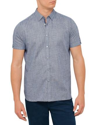 Ss Semi Plain Linen Shirt