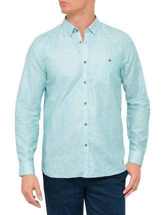 Ls Linen Shirt Mint