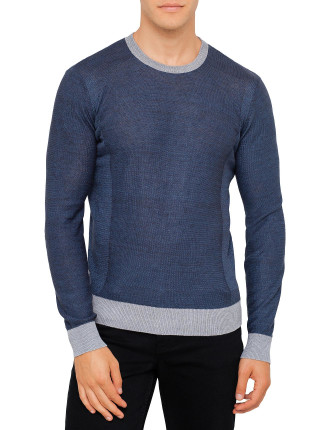 Tipped Neck And Hem Knitwear
