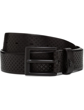 Lasered Leather Belt