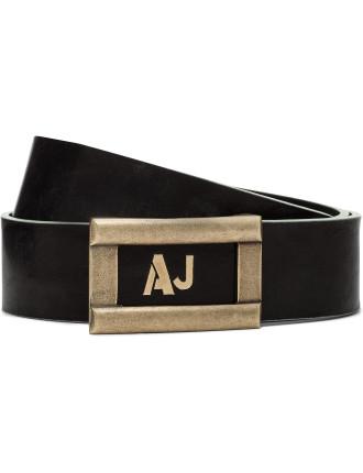 Sj Clasp Leather Belt