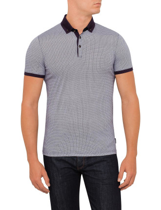 Ss Allover Printed Geo Polo