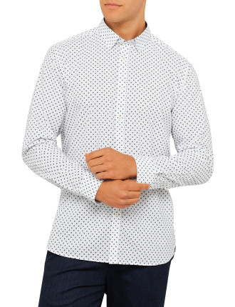 Ls Ghost Print Shirt
