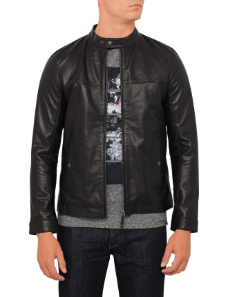 Core Leather Welt Pocket Jacket