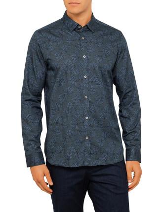 Ls Leaf Print Shirt
