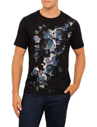 Smudged Flower Graphic Tshirt