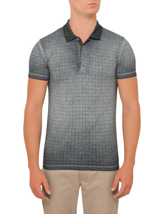 Chequered Over Dye Polo