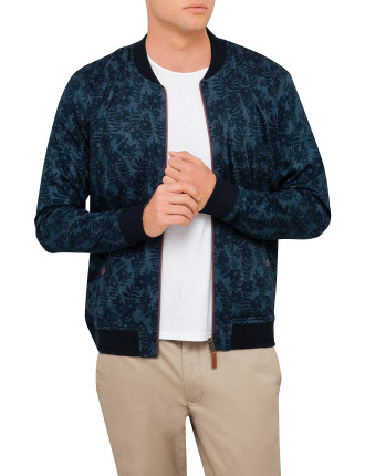 Floral Print Reversible Bomber