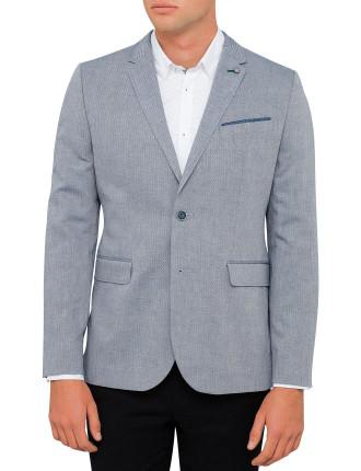 Linen Herringbone Jacket