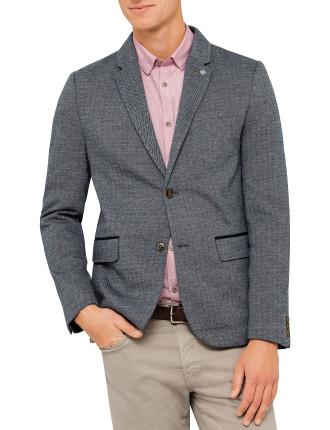Herringbone Jersey Blazer