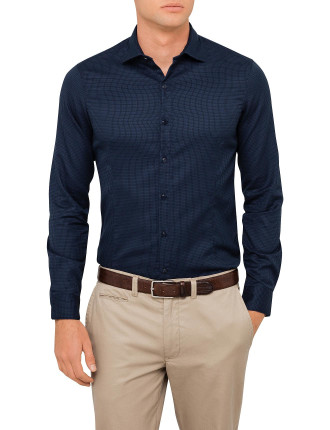 Jacquard Woven Slim Fit Shirt