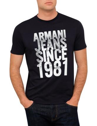 Armani Jeans Since 1981 Logo Tee