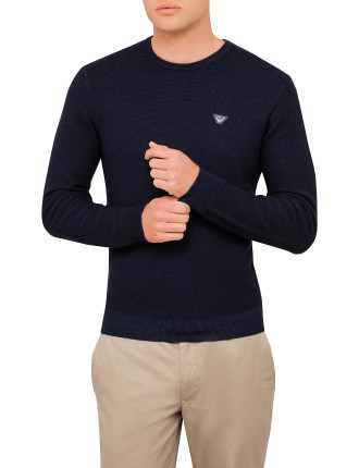 Crew Textured Plain Knit