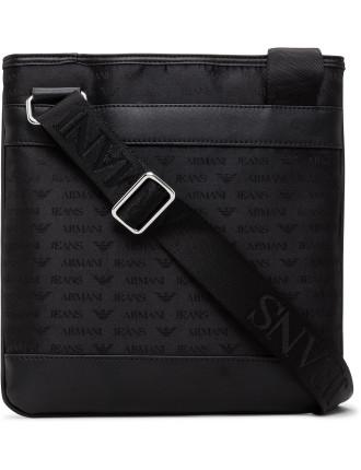 Jacquard All Over Logo Cross Over Bag