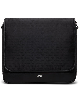 Jacquard All Over Logo Laptop Bag