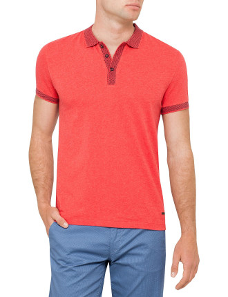 Linen Jersey Polo With Collar