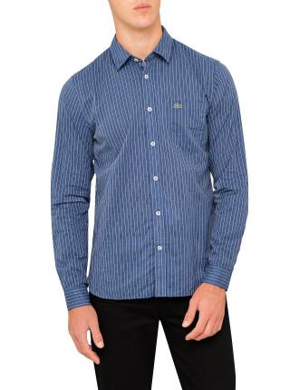 Slim Fit Stripe Poplin Shirt