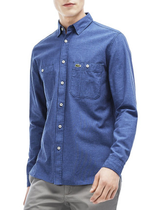 Reg Fit Double Pkt Denim Shirt