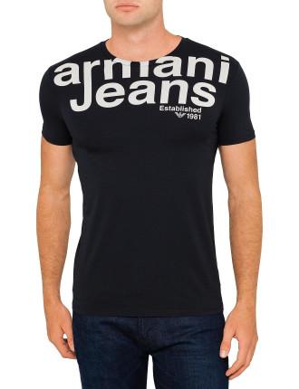 Bold Armani Logo Chest Print Tee